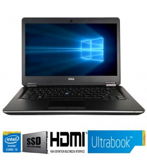 Notebook RICONDIZIONATO Dell Latitude E7440 Intel QUAD Core i5 RAM 8GB 14'' SSD HDMI WINDOWS 10 PROFESSIONAL