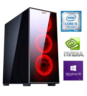 ★ PC COMPUTER ASSEMBLATO DA GAMING INTEL CORE i5 7400 RAM 8GB 1TB SCHEDA VIDEO DEDICATA 2GB WINDOWS 10 PROFESSIONAL