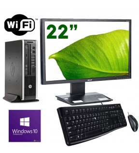 "PC DESKTOP COMPLETO HP MONITOR 22"" G620 RAM 4GB WIFI WINDOWS 10 MOUSE + TASTIERA"