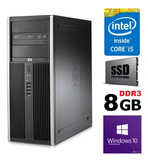 PC RICONDIZIONATO HP ELITE 8200 TOWER QUAD CORE i5 SSD 128GB + 500GB RAM 8GB WINDOWS 10 PROFESSIONAL