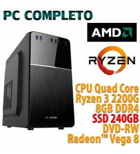 ★ COMPUTER DESKTOP AMD QUAD CORE RYZEN 3/8GB/240GB/DVD-RW/USB 3.0