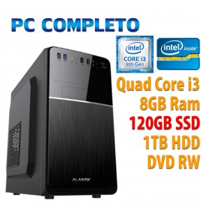 ★ COMPUTER DESKTOP INTEL QUAD CORE i3-8100/8GB/120GB SSD/1TB HDD/DVDRW/USB 3.0
