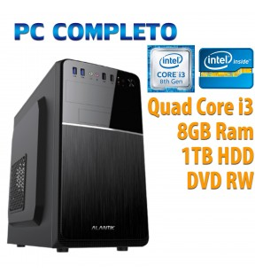 ★ COMPUTER DESKTOP INTEL QUAD CORE i3-8100/8GB/1TB HDD/DVDRW/USB 3.0