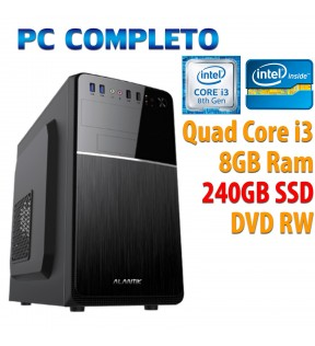 ★ COMPUTER DESKTOP INTEL QUAD CORE i3-8100/8GB/240GB SSD/DVDRW/USB 3.0