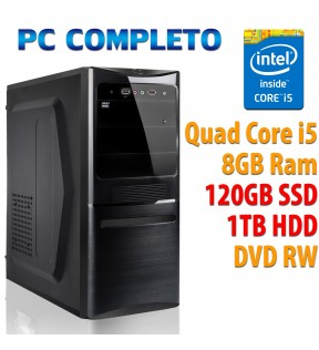 ★ COMPUTER DESKTOP INTEL QUAD CORE i5-7400/8GB/120GB SSD/1TB/DVDRW/USB 3.0