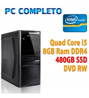 ★ COMPUTER DESKTOP INTEL QUAD CORE i5-7400/8GB/480GB SSD/DVDRW/USB 3.0