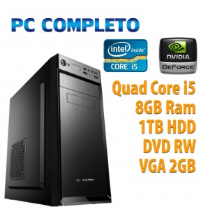 ★ PC COMPUTER DESKTOP GAMING QUAD CORE i5/8GB/1TB/DVDRW/VGA 2GB/USB 3.0