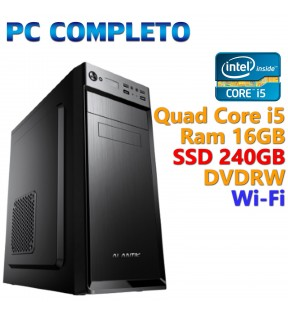 ★ PC COMPUTER DESKTOP INTEL QUAD CORE i5/16GB/SSD 240GB/DVDRW/WI-FI/USB 3.0