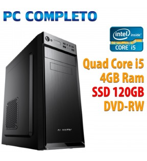 ★ PC COMPUTER DESKTOP INTEL QUAD CORE i5/4GB/SSD 120GB/DVDRW