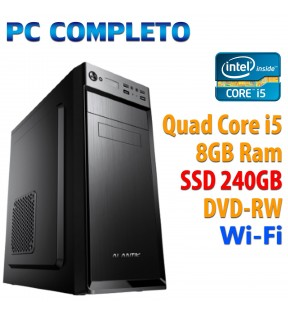 ★ PC COMPUTER DESKTOP INTEL QUAD CORE i5/8GB/SSD 240GB/DVDRW/WI-FI/USB 3.0