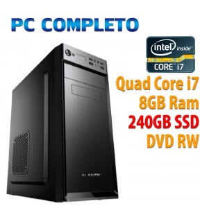 ★ PC COMPUTER DESKTOP INTEL QUAD CORE i7/8GB/SSD 240GB/DVDRW
