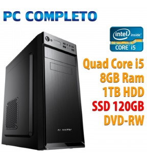 ★ PC COMPUTER DESKTOP INTEL QUAD CORE i5/8GB/SSD 120GB/1TB/DVDRW