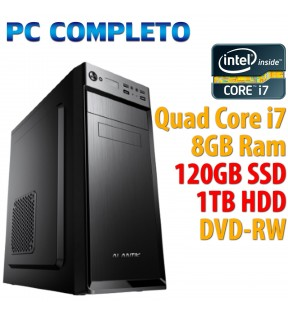 ★ PC COMPUTER DESKTOP INTEL QUAD CORE i7/8GB/SSD 120GB/1TB/DVDRW