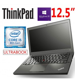 "NOTEBOOK ULTRABOOK LENOVO THINKPAD X240 CORE I5 12.5"" RAM 4GB 500GB WINDOWS 10 PROFESSIONAL"