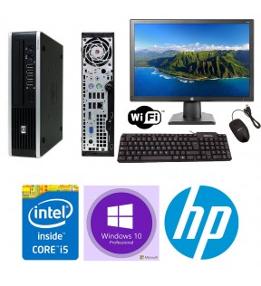 "PC COMPLETO QUAD CORE I5 HP 8200 USDT RAM 4GB MONITOR 19"" MOUSE & TASTIERA WI-FI WINDOWS 10"