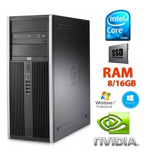 PC RICONDIZIONATO HP ELITE 8200 TOWER QUAD CORE i5 RAM 8/16GB SSD SCHEDA VIDEO DEDICATA 2GB WINDOWS 7/10 PROFESSIONAL
