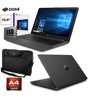 "PC PORTATILE NOTEBOOK HP 255 G7 SSD 256GB 15.6"" DDR4 HDMI WINDOWS 10 PRO + BORSA *NUOVO*"