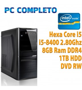 ★ COMPUTER DESKTOP INTEL HEXA CORE i5-8400/8GB/1TB/DVDRW/USB 3.0