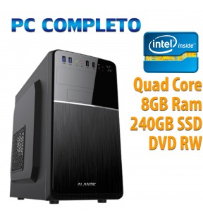 ★ COMPUTER DESKTOP INTEL QUAD CORE/8GB/240GB SSD/DVDRW/USB 3.0