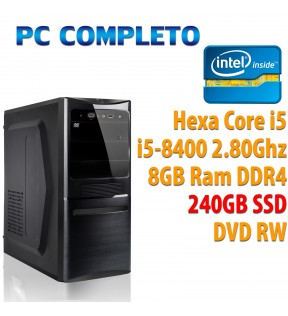 ★ COMPUTER DESKTOP INTEL HEXA CORE i5-8400/8GB/240GB/DVDRW/USB 3.0