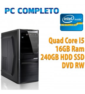 ★ COMPUTER DESKTOP INTEL QUAD CORE i5-7400/16GB/240GB/DVDRW/USB 3.0