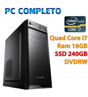 ★ PC COMPUTER DESKTOP INTEL QUAD CORE i7/16GB/SSD 240GB/DVDRW/USB 3.0