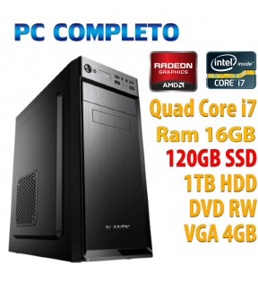 ★ PC COMPUTER DESKTOP GAMING QUAD CORE i7/16GB/SSD 120GB/1TB/DVDRW/VGA 4GB/USB 3.0
