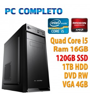 ★ PC COMPUTER DESKTOP GAMING QUAD CORE i5/16GB/SSD 120GB/1TB/DVDRW/VGA 4GB/USB 3.0