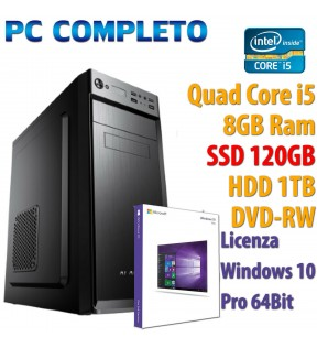 ★ PC COMPUTER DESKTOP INTEL QUAD CORE i5/8GB/SSD 120GB/1TB/DVDRW/USB 3.0/WIN 10 PRO