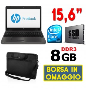 "PC PORTATILE NOTEBOOK HP PROBOOK 6570B 15.6"" CORE I5 SSD RAM 8GB SERIALE RS232"