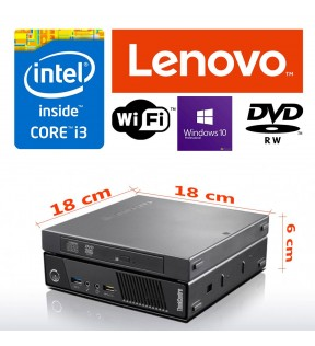 MINI PC Desktop Lenovo M93p USFF Intel Core i3-4130T 2.90GHz 4GB Ram 500GB WI-FI