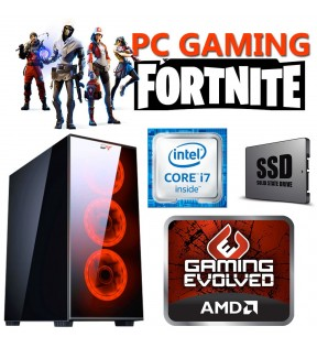 PC COMPUTER GAMING INTEL QUAD CORE i7 RAM 16GB SSD 250GB + 1TB DVDRW/SCHEDA VIDEO 8GB WINDOWS 10 PROFESSIONAL