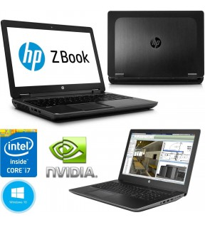 NOTEBOOK WORKSTATION RICONDIZIONATO HP ZBOOK 15 15,6'' CORE I7 4800QM/16GB/240GB SSD/FULL HD/K1100M/WINDOWS 10 PRO