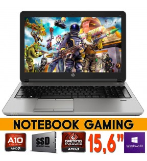 "PC NOTEBOOK GAMING HP PROBOOK 655 G1 15.6"" AMD A10 QUAD CORE RAM 16GB HD8650G FORTNITE WINDOWS 10 PRO"