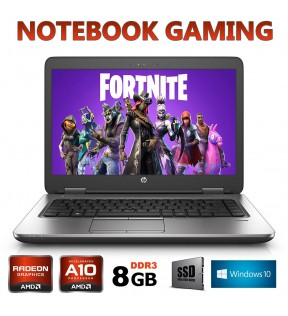 PC NOTEBOOK GAMING HP 645 QUAD CORE A10 8GB SSD TESTATO SU FORTNITE OMAGGIO GIOCHI WIN 10 PRO