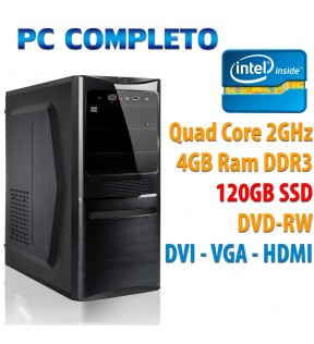 COMPUTER DESKTOP INTEL QUAD CORE/4GB/120GB SSD/DVDRW