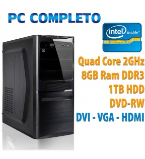 COMPUTER DESKTOP INTEL QUAD CORE/8GB/1TB/DVDRW