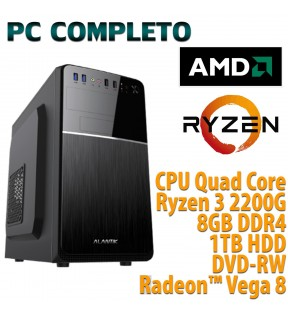 COMPUTER DESKTOP AMD QUAD CORE RYZEN 3/8GB/1TB/DVD-RW/USB 3.0