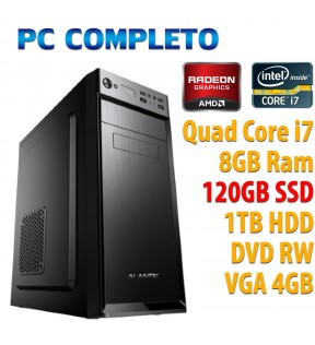 PC COMPUTER DESKTOP GAMING QUAD CORE i7-2600/8GB/SSD 120GB/1TB/DVDRW/VGA 4GB