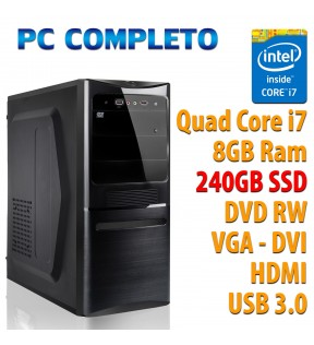 COMPUTER DESKTOP INTEL QUAD CORE i7-7700K/8GB/240GB/DVDRW/USB 3.0