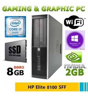 COMPUTER RICONDIZIONATO GAMING HP ELITE 8100 SFF INTEL I5/8GB/250GB/DVD/VGA 2GB/WIN 10 PRO