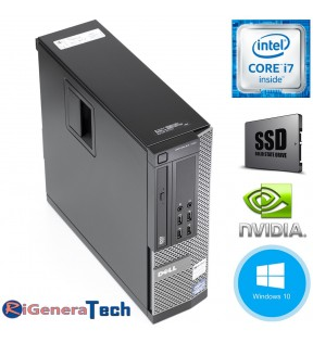 PC DESKTOP DELL OPTIPLEX 390 SFF QUAD CORE I7 3.8 GHZ TURBO BOST