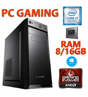 ★ PC COMPUTER GAMING INTEL QUAD CORE i7/8GB/SSD 120GB/1TB/DVDRW/SCHEDA VIDEO 4GB/WINDOWS 10 PROFESSIONAL