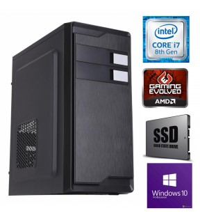 Computer Gaming Assemblato Intel Core i7-8700 Ram 16GB SSD 240GB Hard Disk 1TB DVD-RW USB 3.0 SCHEDA VIDEO 4GB