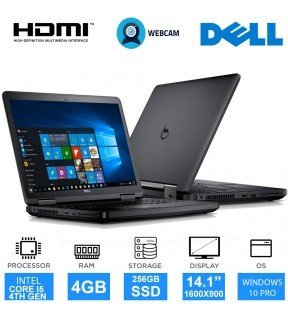 "NOTEBOOK DELL LATITUDE E5440 CORE I5 14"" WEBCAM HDMI SSD 256 WINDOWS 10 PRO"