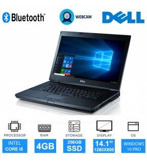 "PC PORTATILE NOTEBOOK DELL E6410 14"" I5 WEBCAM SSD 256GB WINDOWS 10 PRO"