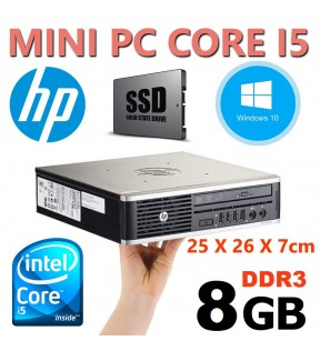 MINI PC RICONDIZIONATO INTEL QUAD CORE I5 HP ELITE 8200 USDT WINDOWS 7 10 PRO