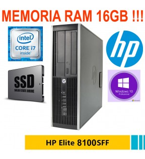 PC DESKTOP HP ELITE 8100 QUAD CORE I7 RAM 16GB SSD 240GB WINDOWS 10 PRO