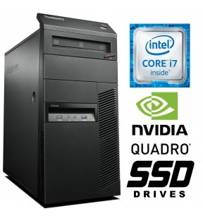 PC WORKSTATION RICONDIZIONATA LENOVO M83 QUAD CORE i7 RAM 8GB SSD 512GB NVIDIA QUADRO K620 2GB WIN 10 PRO