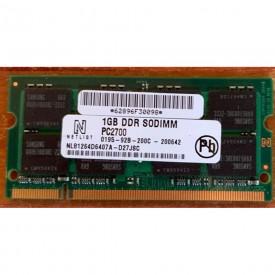 MEMORIA RAM SODIMM 1GB DDR...